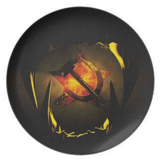 Hammer and sickle party plate