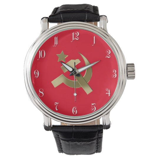 Hammer and sickle wristwatches