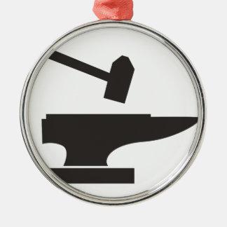 Hammer & Anvil Metal Ornament