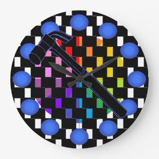 Hammer Construction Building Workshop Clock 9