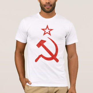 Hammer, Sickle and Star Soviet Logo for Light Tee