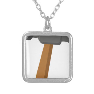 Hammer Silver Plated Necklace