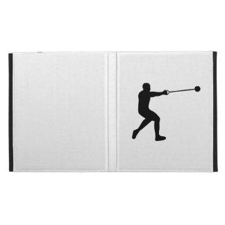 Hammer throw iPad folio cases