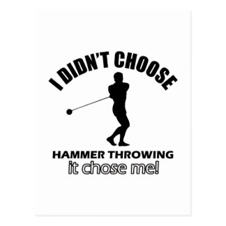 hammer throw design postcard