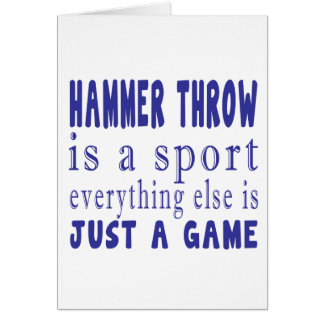 HAMMER THROW JUST A GAME CARD
