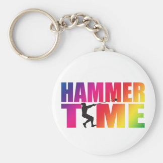 Hammer Throw Track and Field Keychain