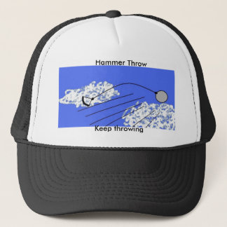 Hammer throw trucker hat