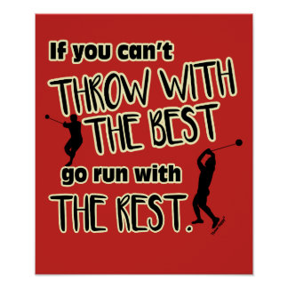 Hammer Throw With The Best- Poster