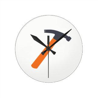 Hammer Time Round Clock