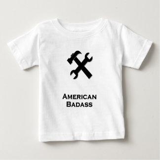 Hammer Wrench American Badass black Baby T-Shirt