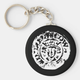 Hammered coin keyring, metal detecting gift keychain