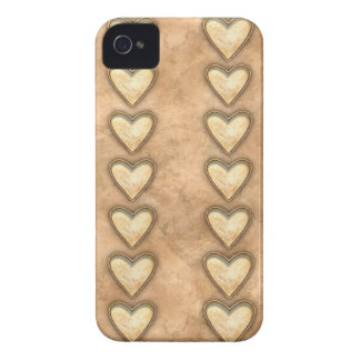 Hammered Copper Hearts Case-Mate iPhone 4 Case