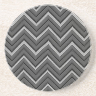Hammered Metal Chevron City Stripes Beverage Coasters