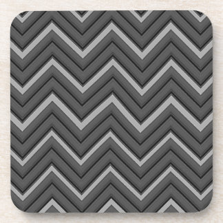 Hammered Metal Chevron City Stripes Coaster