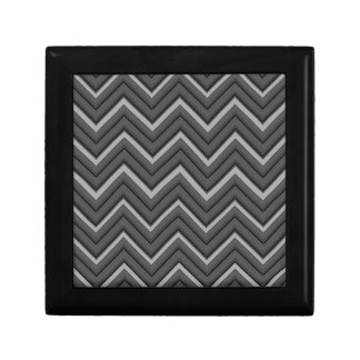 Hammered Metal Chevron City Stripes Gift Box