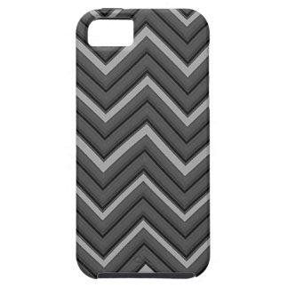 Hammered Metal Chevron City Stripes iPhone 5 Case