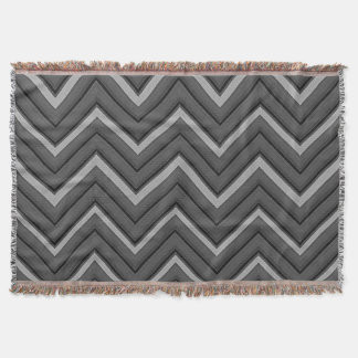 Hammered Metal Chevron City Stripes Throw