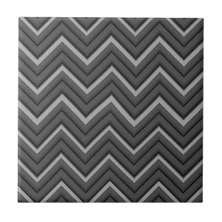 Hammered Metal Chevron City Stripes Tile