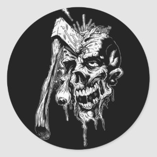 Hammered Skull Classic Round Sticker
