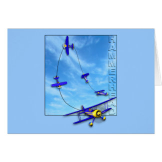 Hammerhead Aerobatic maneuver with Biplane Card