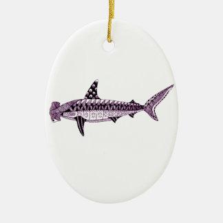 Hammerhead Shark Ceramic Ornament