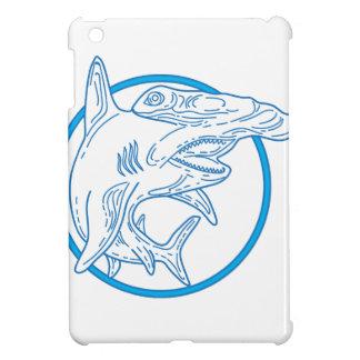 Hammerhead Shark Circle Mono Line iPad Mini Cases