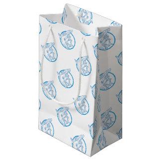 Hammerhead Shark Circle Mono Line Small Gift Bag