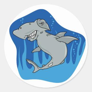 Hammerhead Shark Classic Round Sticker
