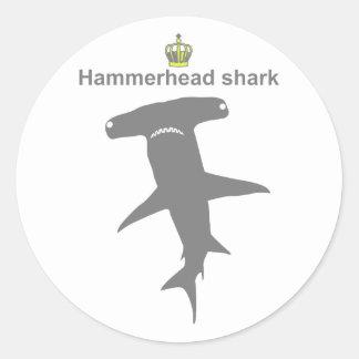 Hammerhead shark g5 round sticker