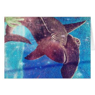 Hammerhead Shark Painting Card