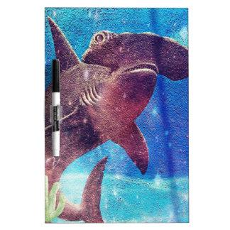 Hammerhead Shark Painting Dry Erase Board