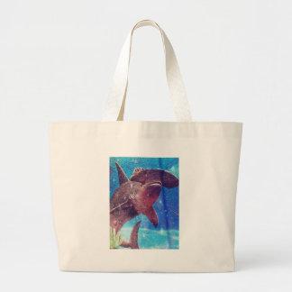 Hammerhead Shark Painting Large Tote Bag