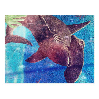 Hammerhead Shark Painting Postcard