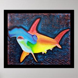 Hammerhead Shark Poster