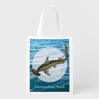 Hammerhead Shark Sea Life Reusable Grocery Bag