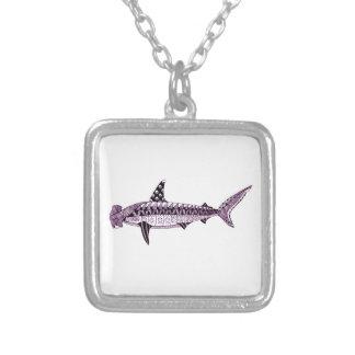 Hammerhead Shark Silver Plated Necklace