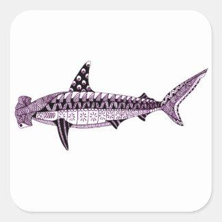 Hammerhead Shark Square Sticker