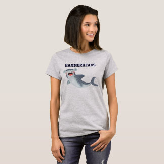 Hammerheads Shark Illustration Laughing Cute T-Shirt