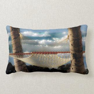 Hammock by the Ocean Lumbar Pillow