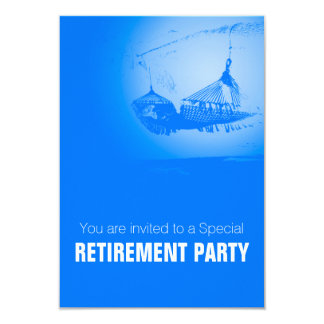 "Hammock - Happy Retirement Party 02 3.5"" X 5"" Invitation Card"