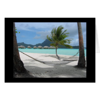Hammock on Bora Bora Card