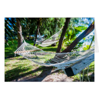 Hammock on the beach, Fiji Card