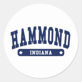 Hammond Indiana College Style tee shirts Classic Round Sticker