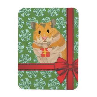 Hammy Christmas Hamster Christmas Magnet