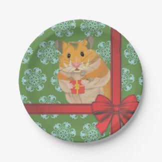 Hammy Christmas Hamster Christmas Paper Plate