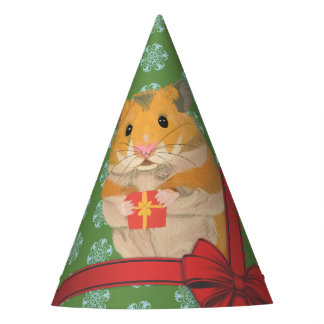 Hammy Christmas Hamster Christmas Party Hat