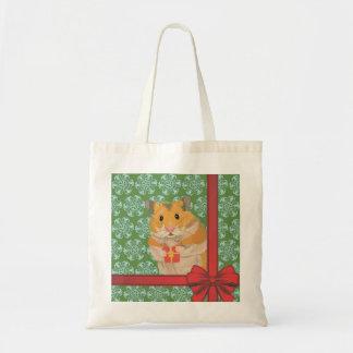 Hammy Christmas Hamster Christmas Tote Bag
