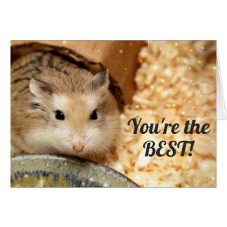 Hammyville - Cute Brown Hamster Card