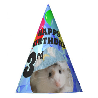 Hammyville - Cute Hamster Blue Gems Party Hat