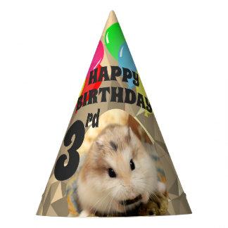 Hammyville - Cute Hamster Brown Gems Party Hat